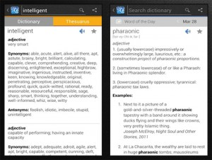 Dictionary app screenshot