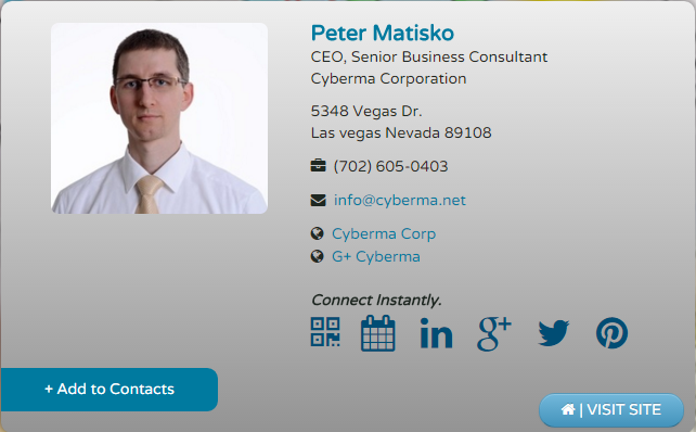digital business card - peter matisko