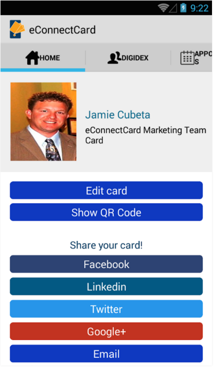 digital business card profile